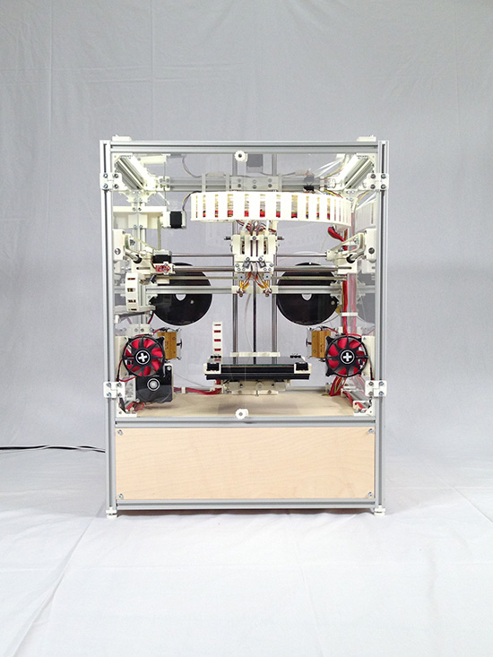 reprap, abs, printer, heated chamber, open-source
