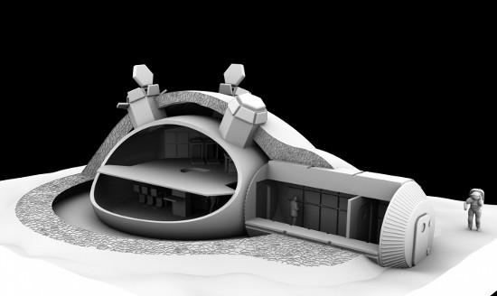 spce, lunar, colony, architecture