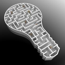 Lightbulb maze