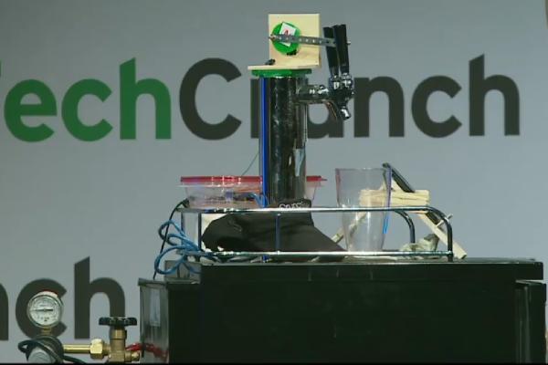 robot, beer, keg, NYC, bar