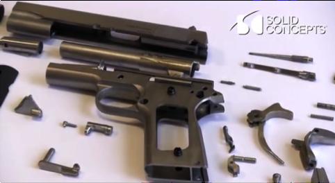 DMLS, gun, metal, steel, inconel, solid concepts, 3d printing, austin, texas, weapon,