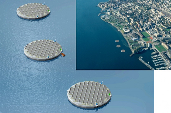 swiss, lake, solar, energy, island