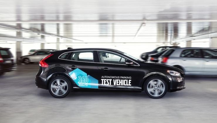 volvo, parking, autonomous, car