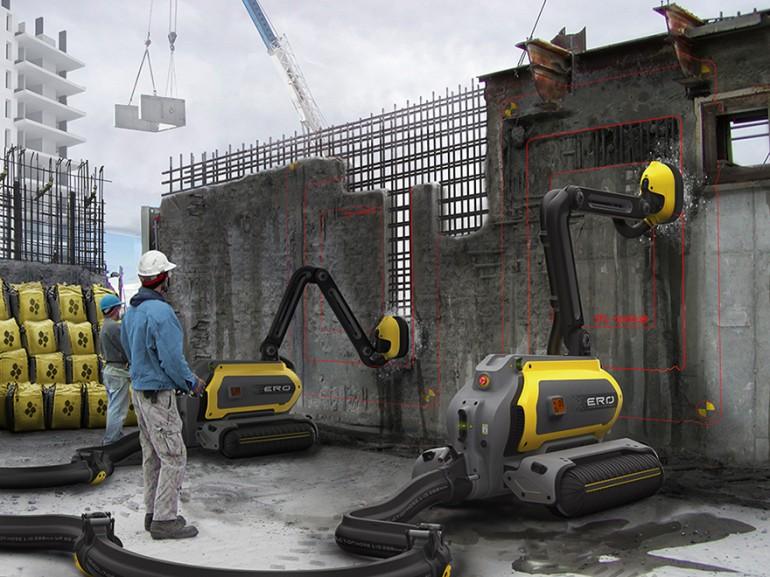 architecture, concrete, robot, design, deconstruction, building, industrial design