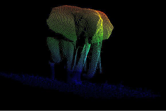 LiDAR, elephant, London, Gabon, point cloud, data, UAV, autonomous, car