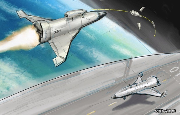 Darpa, spaceplane, satellite, military