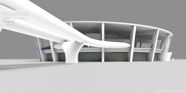 hyperloop, terminal, passenger, architecture, design, travel, Elon Musk,