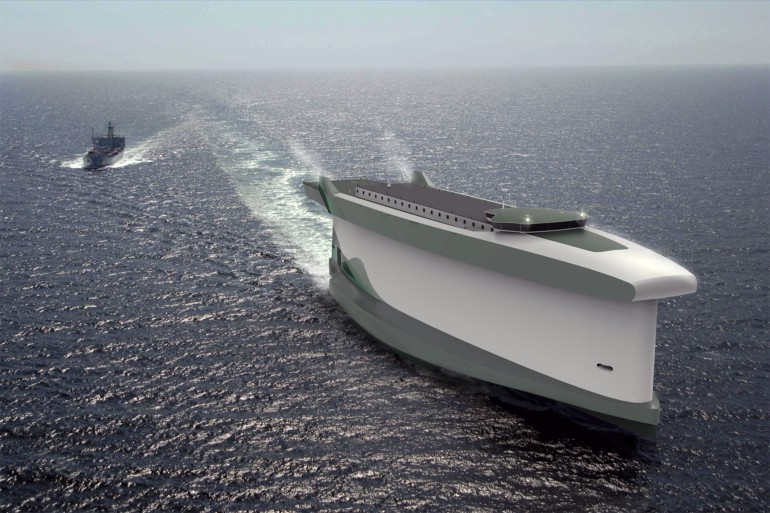 merchant, ship, container, shipping, ocean, wind power, wind, norway, design, boat, sustainable