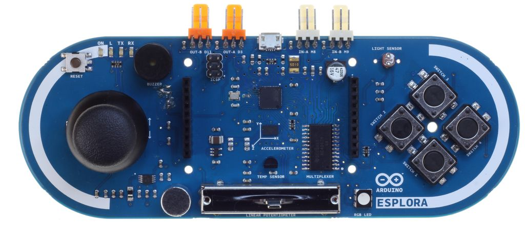 Esplora brings hands on controls to arduino projects