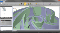 Impeller Model Overlaid With Scan Data