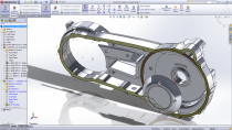 Creating in-context features in SolidWorks 2012 SP5, referencing 2013 components