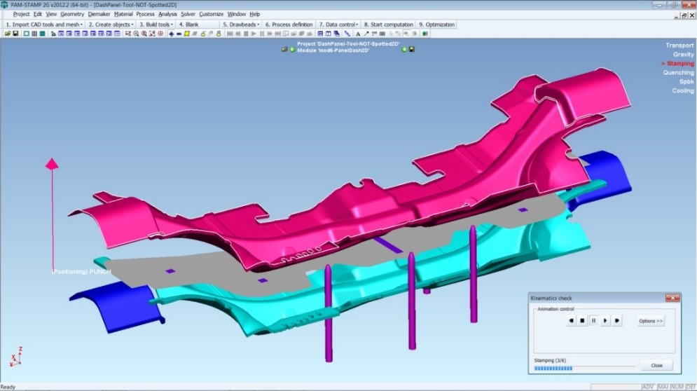 Hot Press Simulation From Esi S Pam Stamp Gt Engineering Com