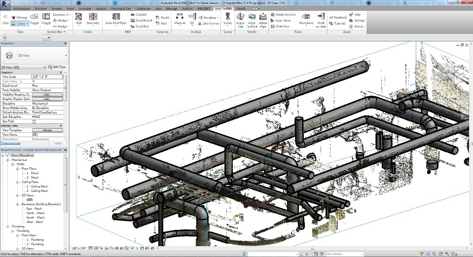 Scan to BIM Software Advancements from IMAGINiT. Stabicad 10 Offers Enhancement to Common BIM Software