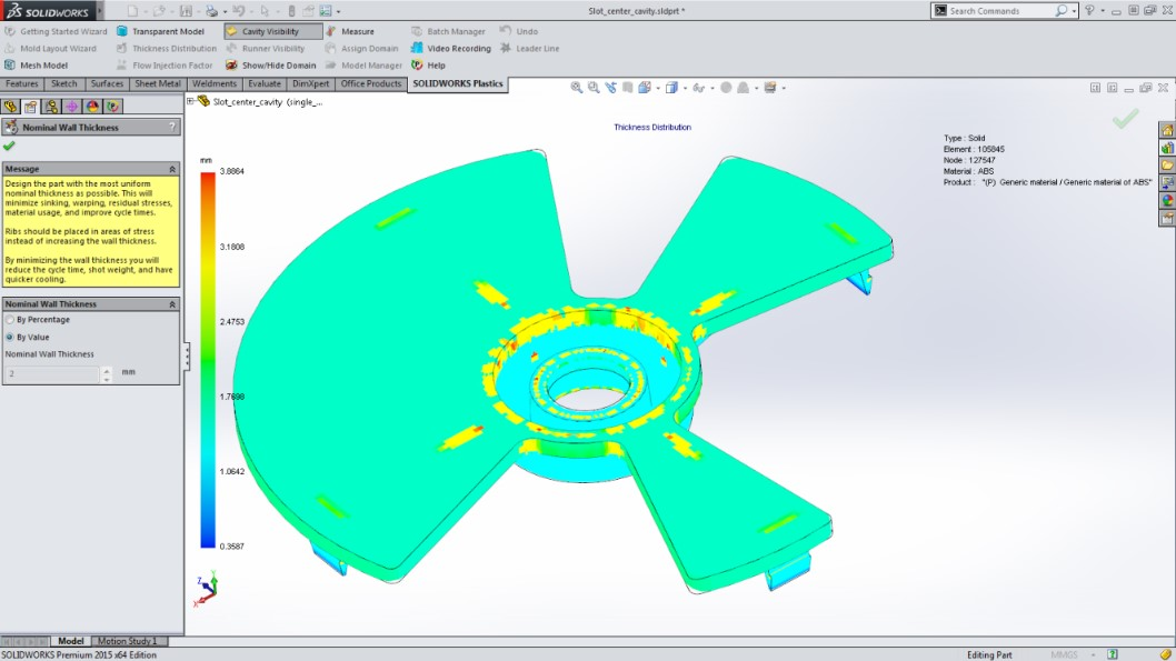 Top 5 SOLIDWORKS Plastics 2015 Features > ENGINEERING com