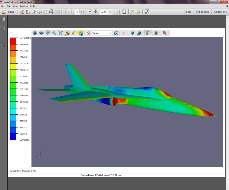 Universal 3d pdf creation for simulation cae data for Simulatore 3d