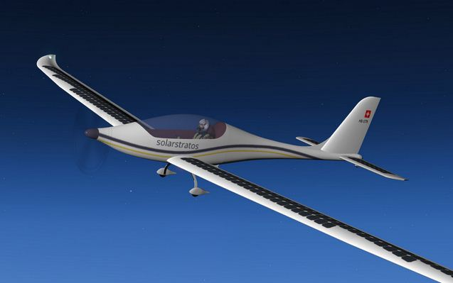 Solar Plane Shoots For Altitude Record Gt Engineering Com