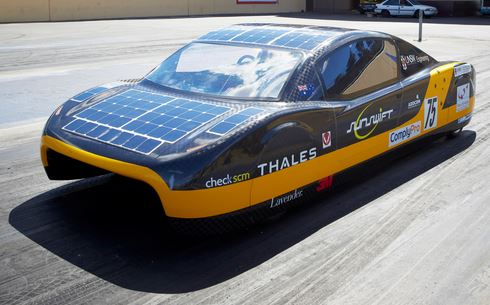 Students Build Record-Breaking Solar Electric Car
