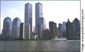 The World Trade Center  From Harbor