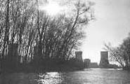 Three Mile Island b/w picture