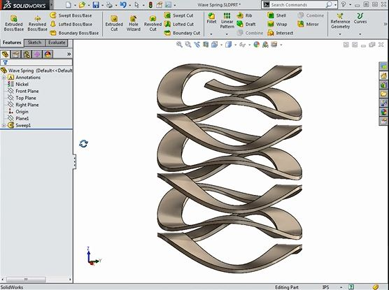 Modeling a Wave Spring in SOLIDWORKS > ENGINEERING com