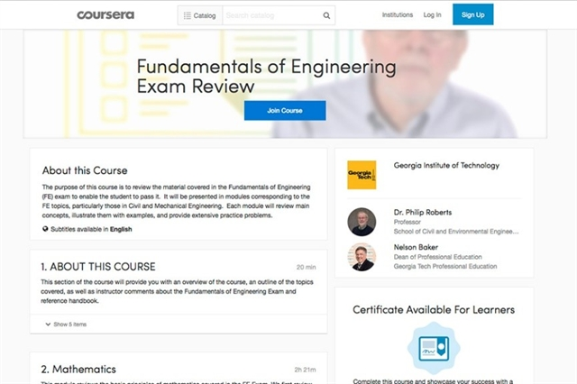 Free FE Exam Prep Course: Civil and Mechanical Engineering