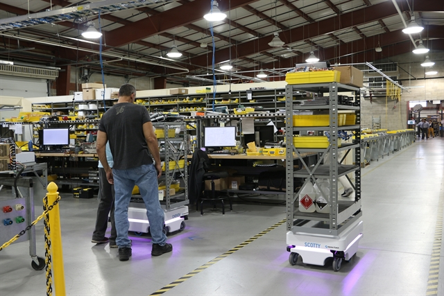 Automating material transportation with mobile industrial robots - Mobel industrial ...