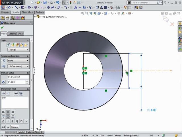 Flattening Cone Shaped Sheet Metal In Solidworks