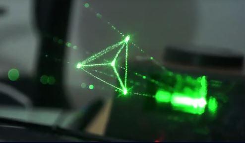 Holographic Vector Display Creates Three Dimensional Light