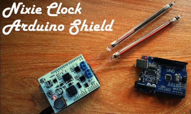 Makers Can Build a Nixie Clock with this Arduino Shield